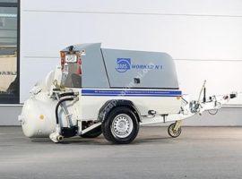 ماكينة هواء مضغوط خلط ونقل الملاط مع الكبسة